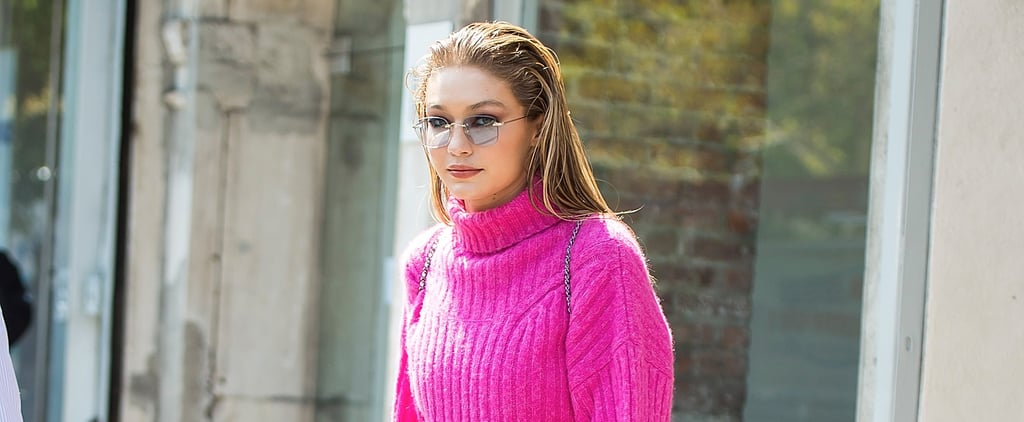 Put on Sunglasses Before You Stare Directly at Gigi Hadid's Intense Glittery Shoes