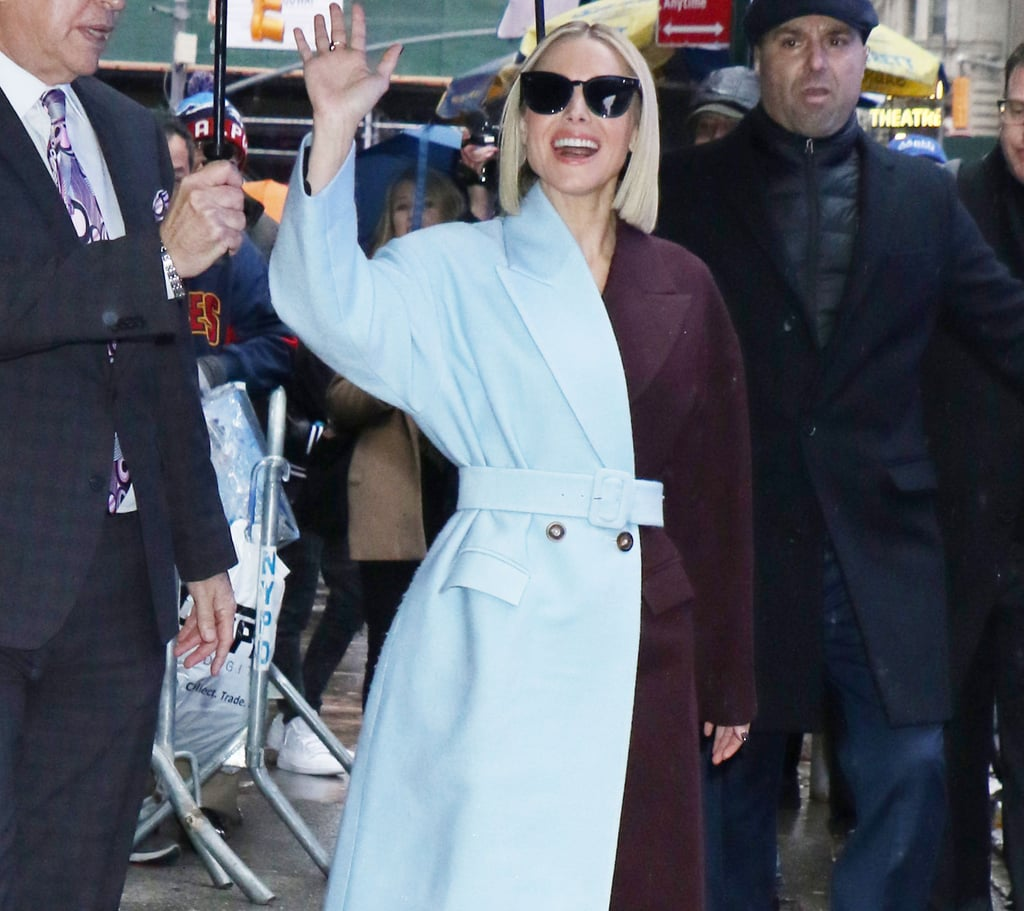 Kristen Bell's Blue and Purple Coat's Giving Us Frozen Vibes