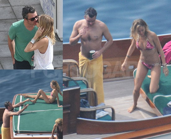 Photos of Sienna Miller in a Bikini With Balthzar Getty Kissing in Positano, Italy