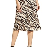 Socialite Print Bias Cut Skirt