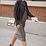 Maria Dueñas Jacobs showed off her baby bump and a gorgeous Chanel on her way to the shows.