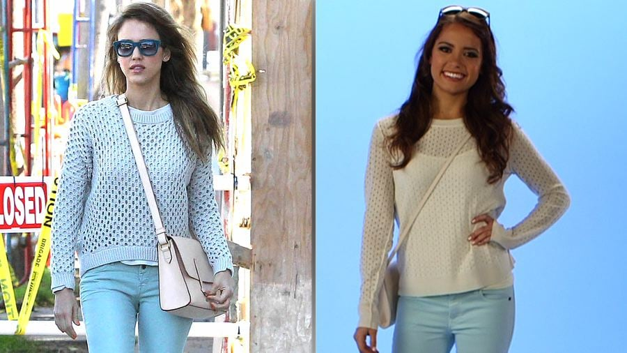Get the Look: Jessica Alba's Perfect-For-Summer Pastel Denim