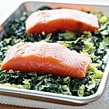 Salmon With Crispy Cabbage and Kale
