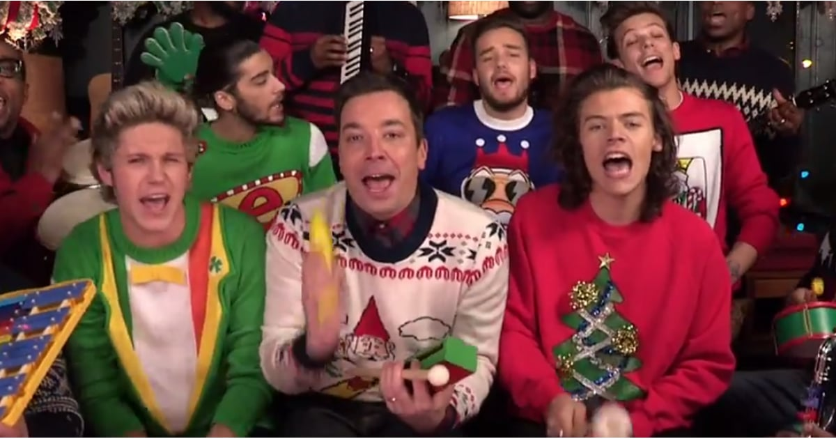 One Direction Singing Santa Claus Is Coming to Town | POPSUGAR Celebrity