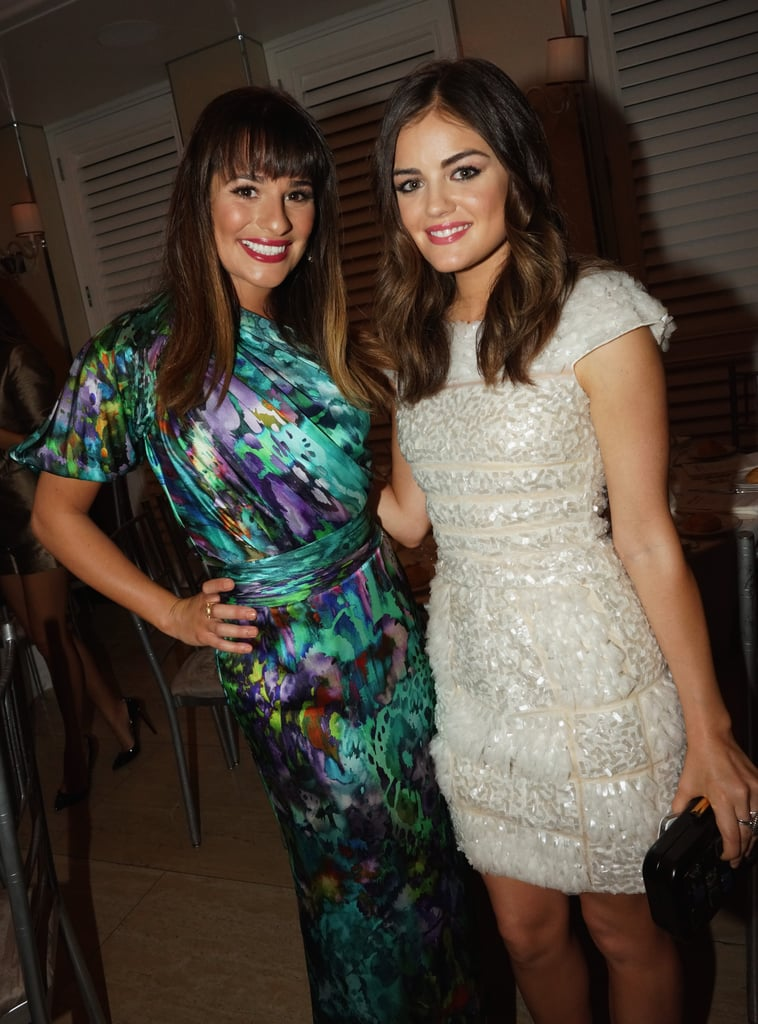 Lea posed with Lucy Hale during a Nylon magazine party in her honor in LA in September 2012.