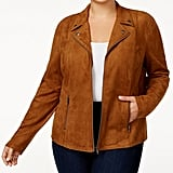 Style & Co Faux-Suede Jacket