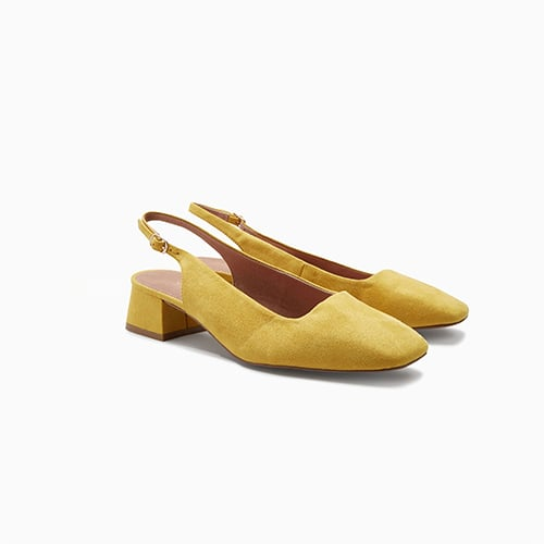 Square Toe Slingback Court Shoes ($51)