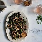 Roasted Broccoli Bagna Cauda With Crispy Shallots