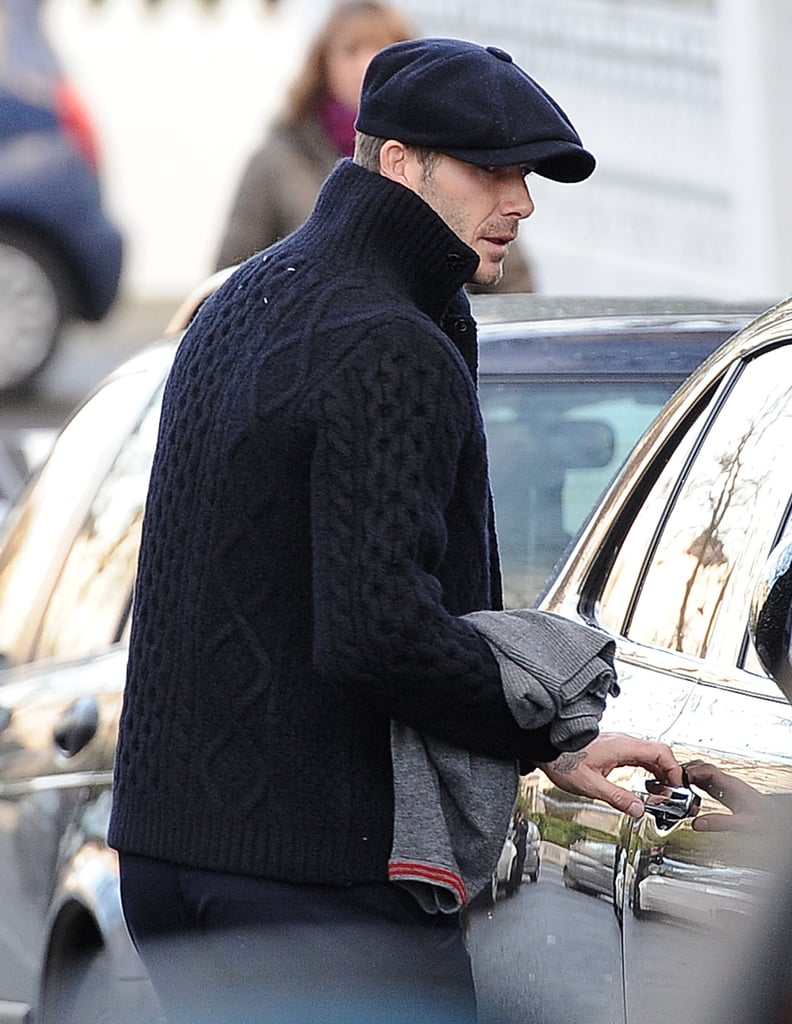 David Beckham returned to London.