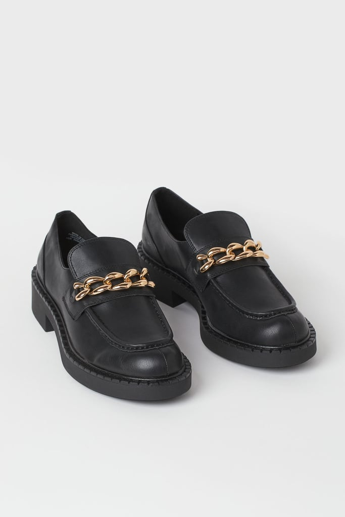 H&M Chain-Detail Loafers