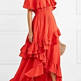 Rhode Resort Salma Off-the-Shoulder Ruffled Cotton-Voile Maxi Dress