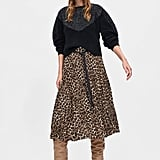 My Pick: Zara Animal Print Pleated Skirt
