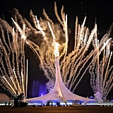 The Olympic torch was lit during the dramatic climax of the opening ceremony.