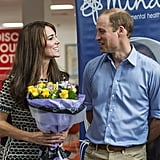 The couple only had eyes for each other during an official appearance at Harrow College in October.