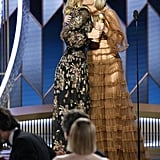 Laura Dern and Gwyneth Paltrow at the 2020 Golden Globes