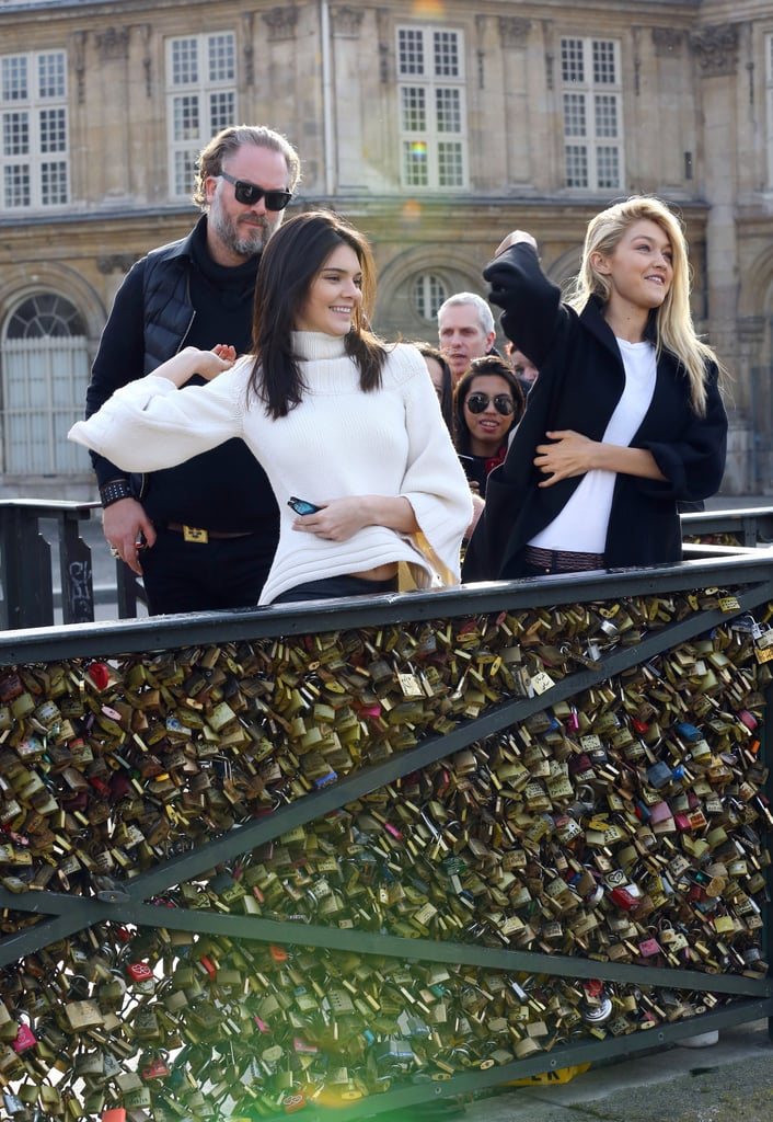 Kendall Jenner and Gigi Hadid at Pont des Arts Pictures