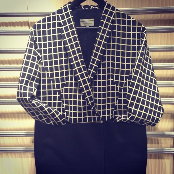 This monochrome Veronika Maine coat caught fashion editor Ali's eye during the label's Spring/Summer showing.