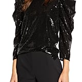 Something Navy Sequin Night-Out Top
