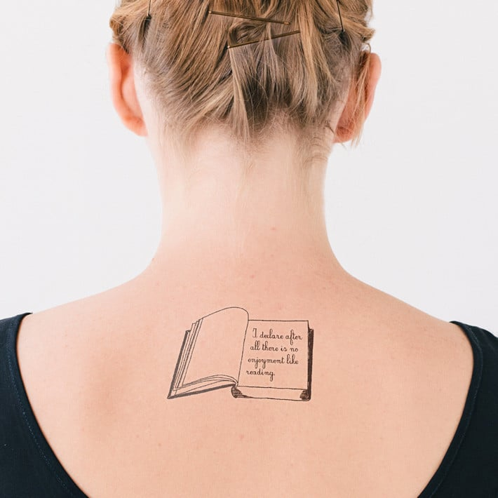 Temporary Tattoos For Book-Lovers ($5 for set of two)