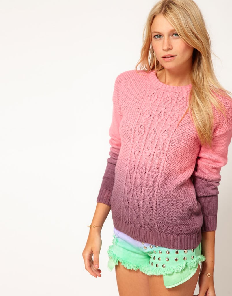 The intriguing ombré pattern on ASOS's Dip-Dye Cable Jumper ($78) will look great against dark denim.