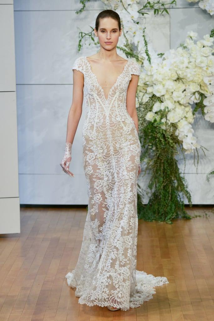 c5c21add3e61 Monique Lhuillier Spring 2018 | Wedding Dress Trends 2018 | POPSUGAR ...