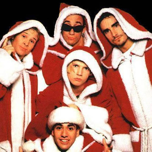 Backstreet Boys in Santa Robes