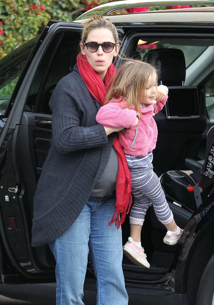 Jennifer Garner taking Seraphina out to breakfast.