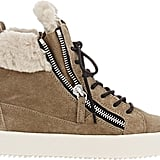Giuseppe Zanotti Shearling-Lined Double-Zip Sneakers-Colorless ($765)