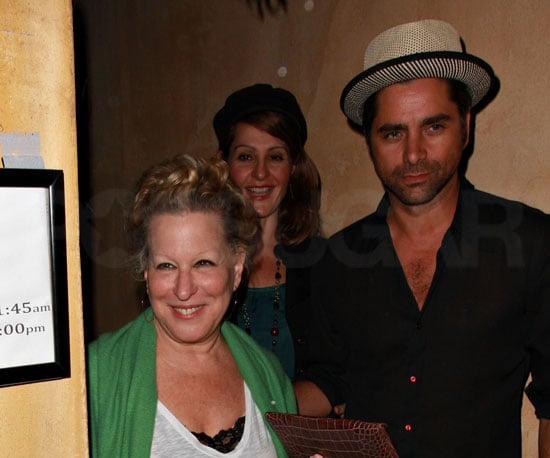 Photo of John Stamos, Bette Midler and Nia Vardalos Leaving Dinner