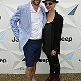 """Anthony """"Lehmo"""" Lehmann and his wife Kelly were also on hand for the Polo."""