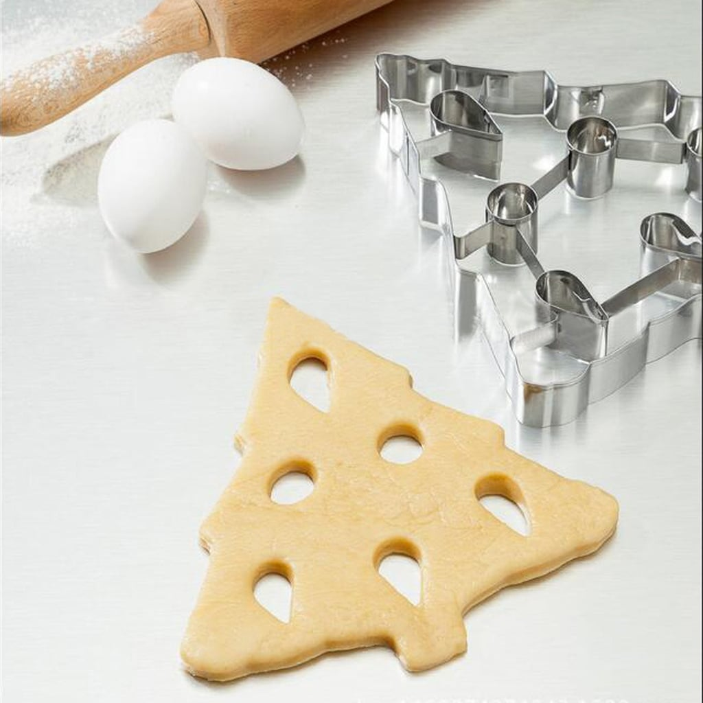 Large 3d Christmas Tree Biscuit Cookie Cutter 3d Christmas Cookie