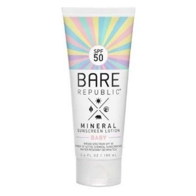 Bare Republic Baby Mineral Sunscreen Lotion, SPF 50