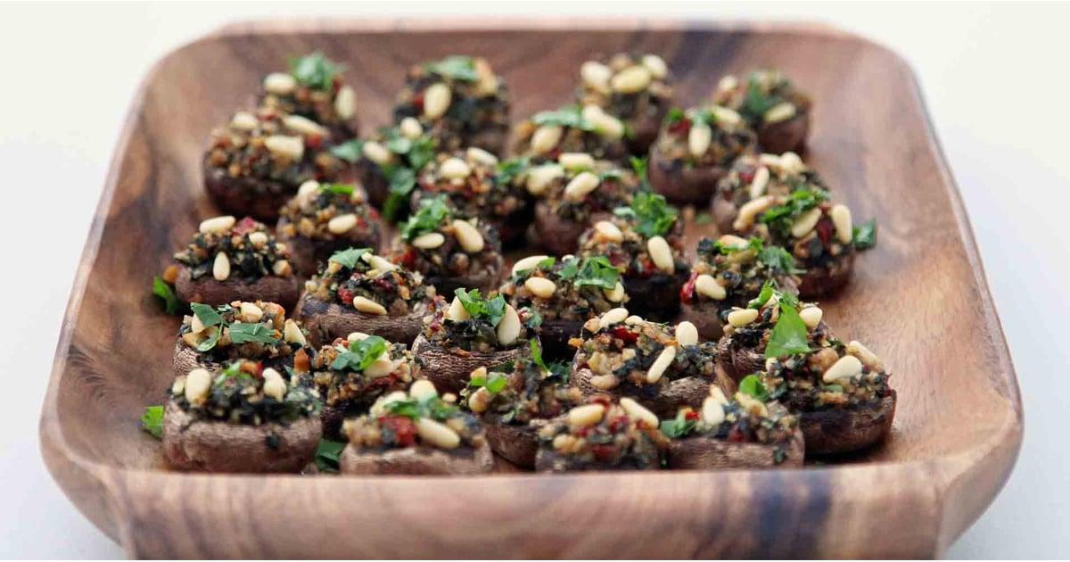 Vegetarian Stuffed Mushroom Recipe Popsugar Food