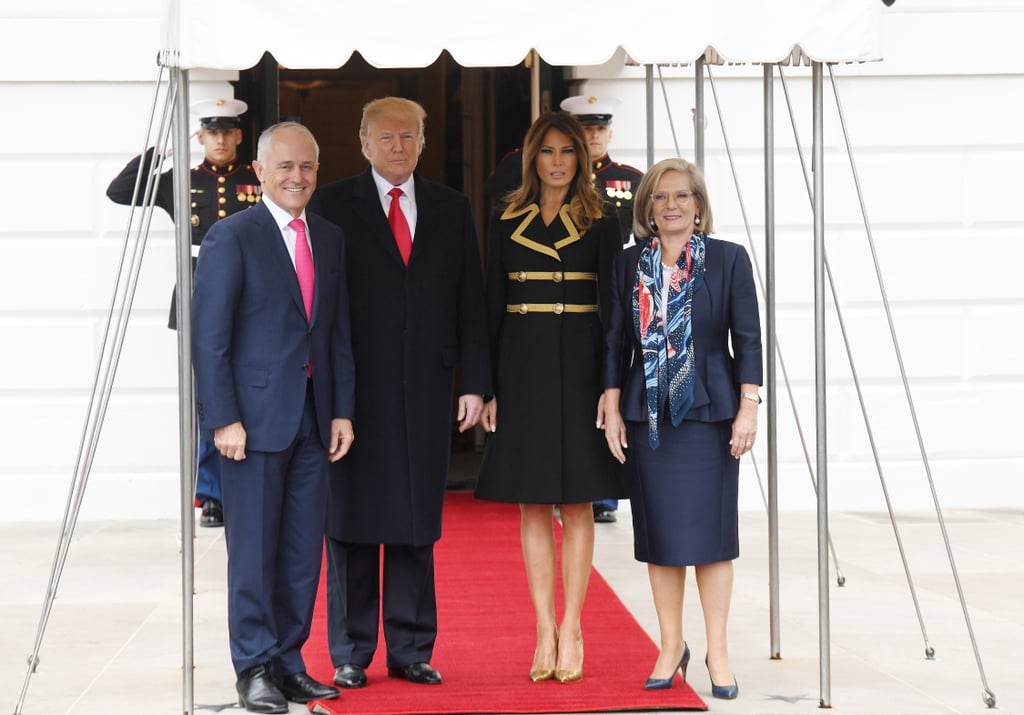 Melania and Donald Trump Rolled Out the Red Carpet For the Turnbulls