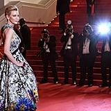 Cate Blanchett in Mary Katrantzou at Cannes Film Festival