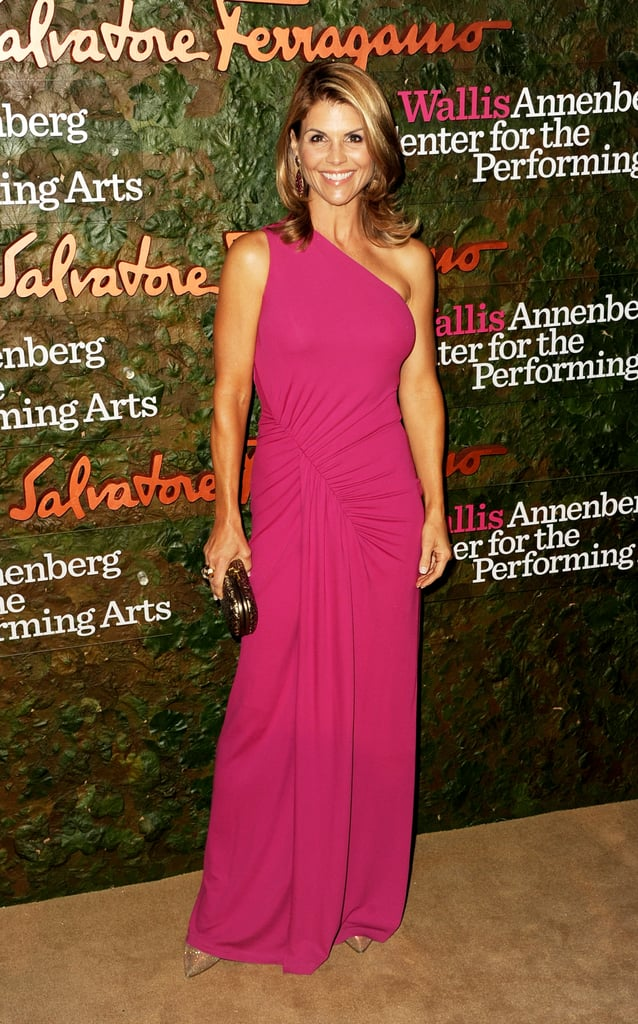 Lori Laughlin looked pretty pink as she was photographed at the Annenberg Gala.