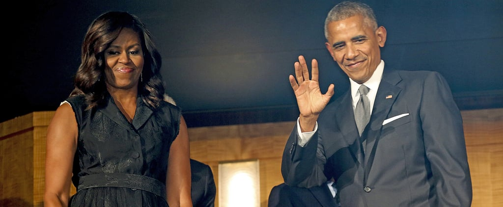 Michelle Obama's Tuxedo Dress Is Way More Party Than Business