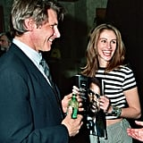 A fresh-faced Julia hung out with Harrison Ford at ShoWest in 1993.