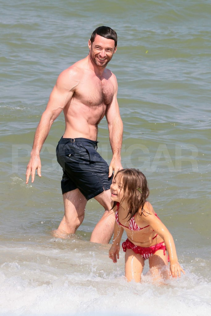 Hugh Jackman with daughter Ava Jackman.