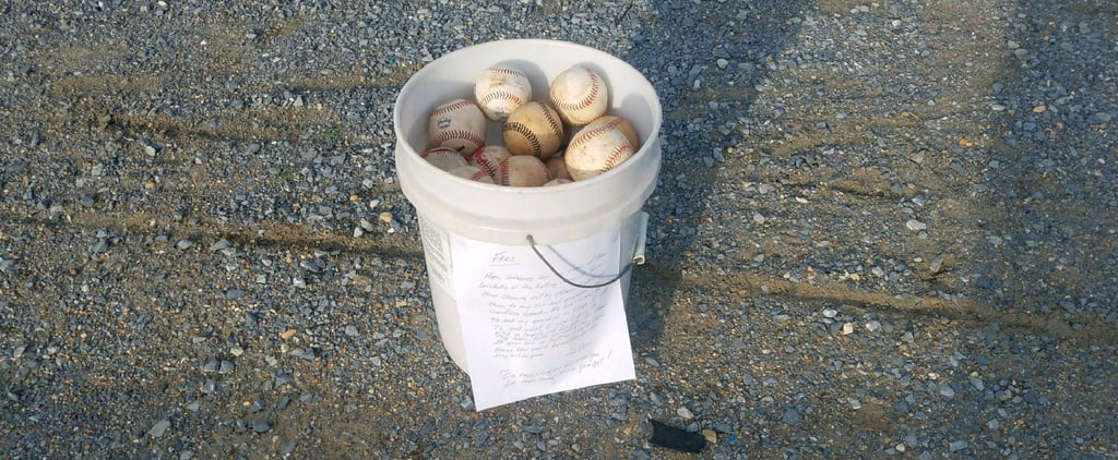 Grandpa's Heartwarming Parenting Note on Bucket of Baseballs