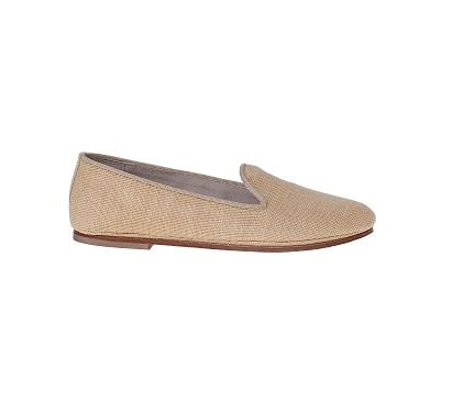 A neutral you could literally wear everywhere.  French Sole Drama Loafer Natural Raffia ($73, originally $140)