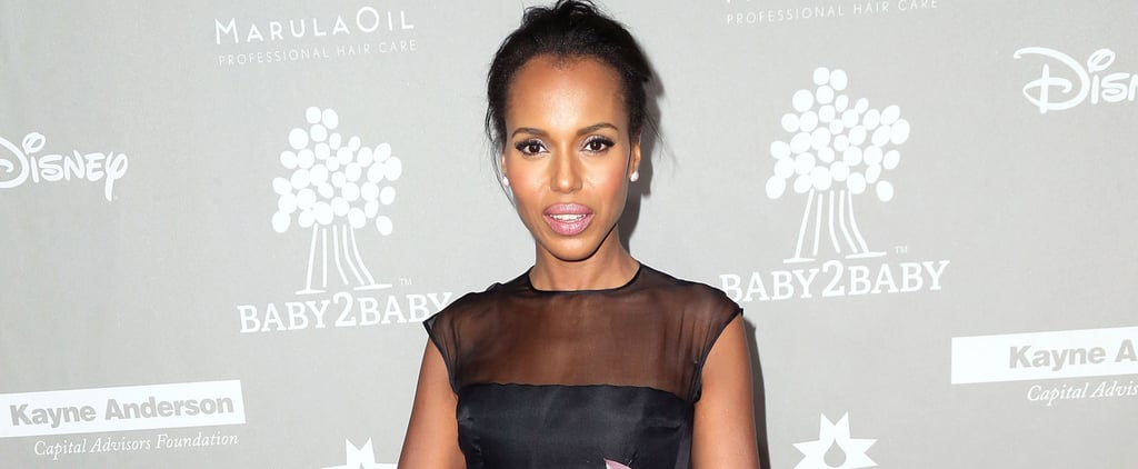 Kerry Washington Had a Princess Moment in a Totally Sheer Gown