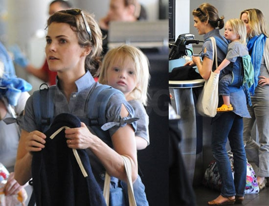 Photos of Keri Russell and Son River Deary at LAX on Her 33rd Birthday