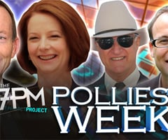 Australian Prime Minister Julia Gillard Joins the Desk on The 7PM Project Tonight