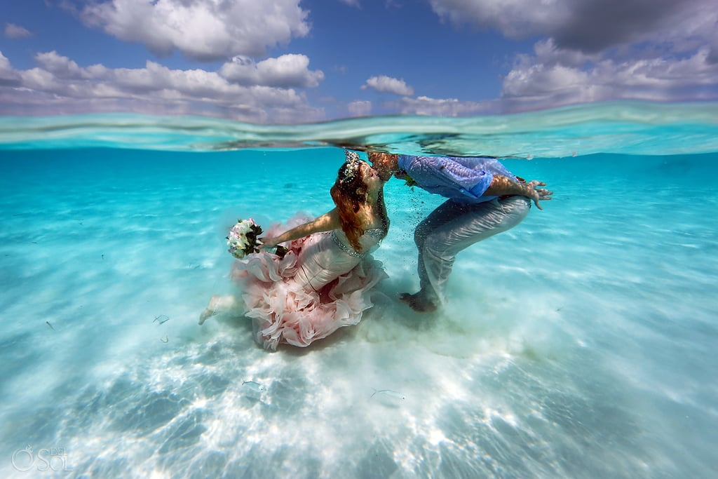 Wedding On A Sandbar In Caribbean Sea Popsugar Love Sex Photo 16