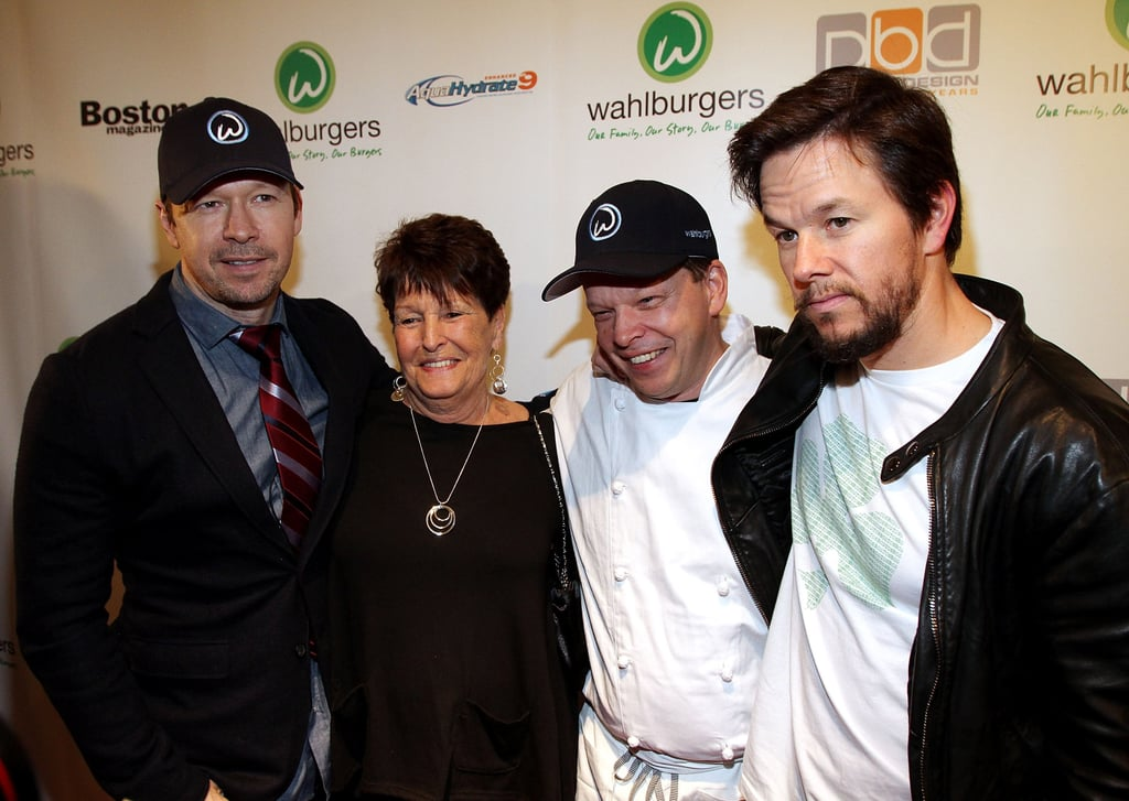 Mark Wahlberg joined his mother Alma Elaine Wahlberg, and his two brothers Donnie and Paul Wahlberg at the grand opening of their new hamburger restaurant, Wahlburgers, in Hingham, MA yesterday. The famous family has the perfect name for a burger joint, and Paul will serve as the chef at what is sure to be a hot spot in Beantown. Mark is currently between projects since being replaced by Bradley Cooper in David O.Russell's The Silver Lining Playbook, but Wahlberg does have a number of titles coming out in 2012. We were recently treated to the first trailer for Contraband, his upcoming heist movie, and he'll also show off his funny side opposite Mila Kunis in quirky comedy Ted. Mark is also enjoying the success of Boardwalk Empire, which he produces and is currently in the midst of its second season on HBO.