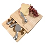 Cheese Board Set With Stainless Steel Knives
