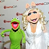 Kermit and Miss Piggy came out to CinemaCon in Las Vegas.