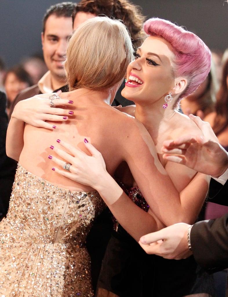 Nov. 20, 2011: Taylor and Katy Hug It Out