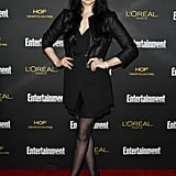 Laura Prepon wore black to the Entertainment Weekly fete.